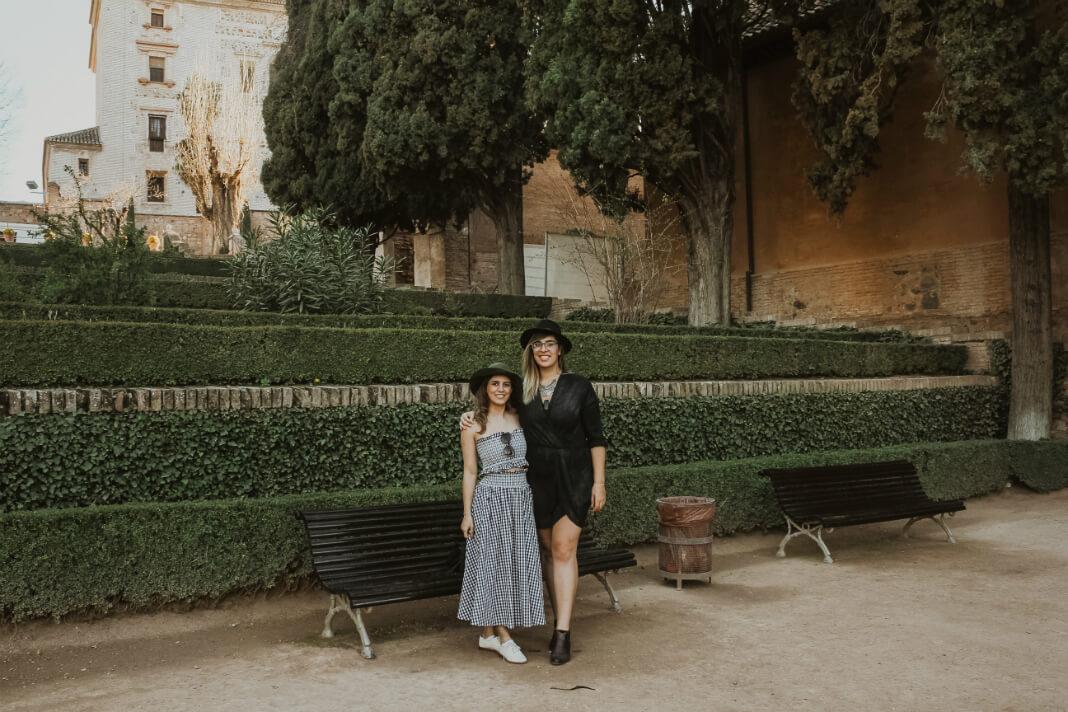 Dilara and Justine in Barcelona