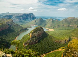 Aerial view of Blyde River Canyon, South Africa