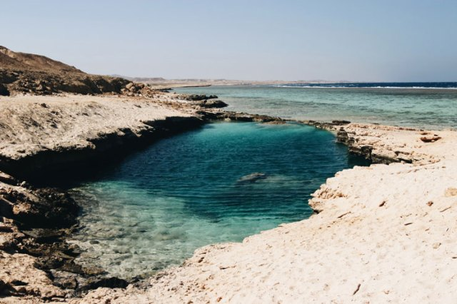 the Red Sea coast of Egypt