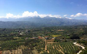 landscape of crete greece