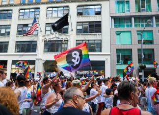 activists in pride march