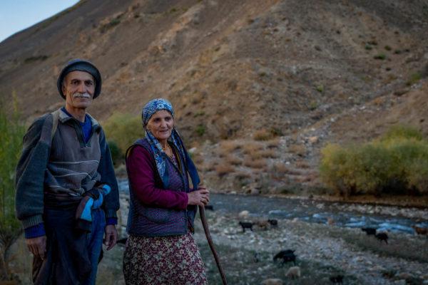 farmers in mountains of Tajikistan
