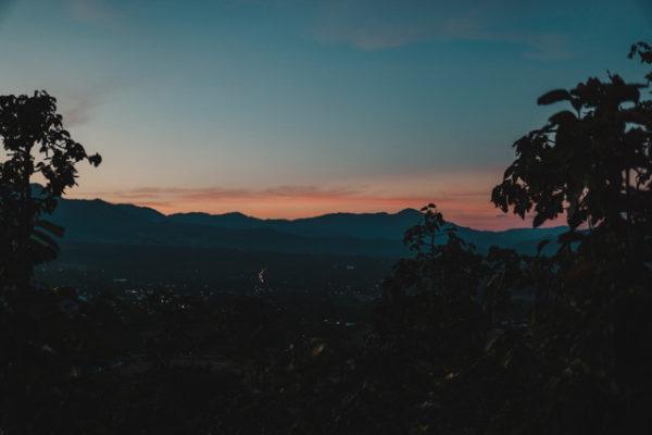 last light of orange sunset