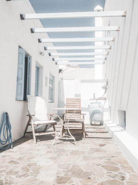 patio furniture on island home