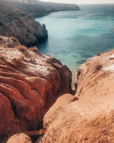 beach canyon leading to ocean