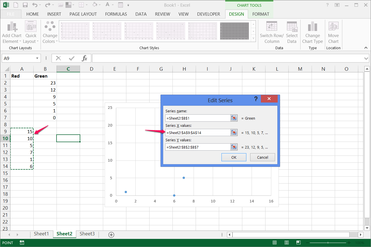 Axis Scale Excel
