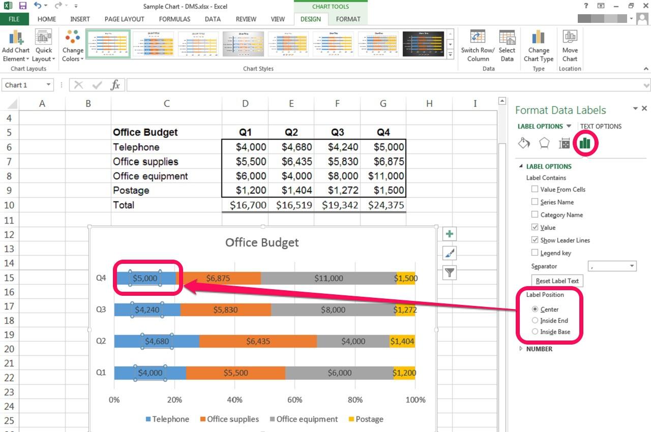 Percentage Change Bar Graph Excel
