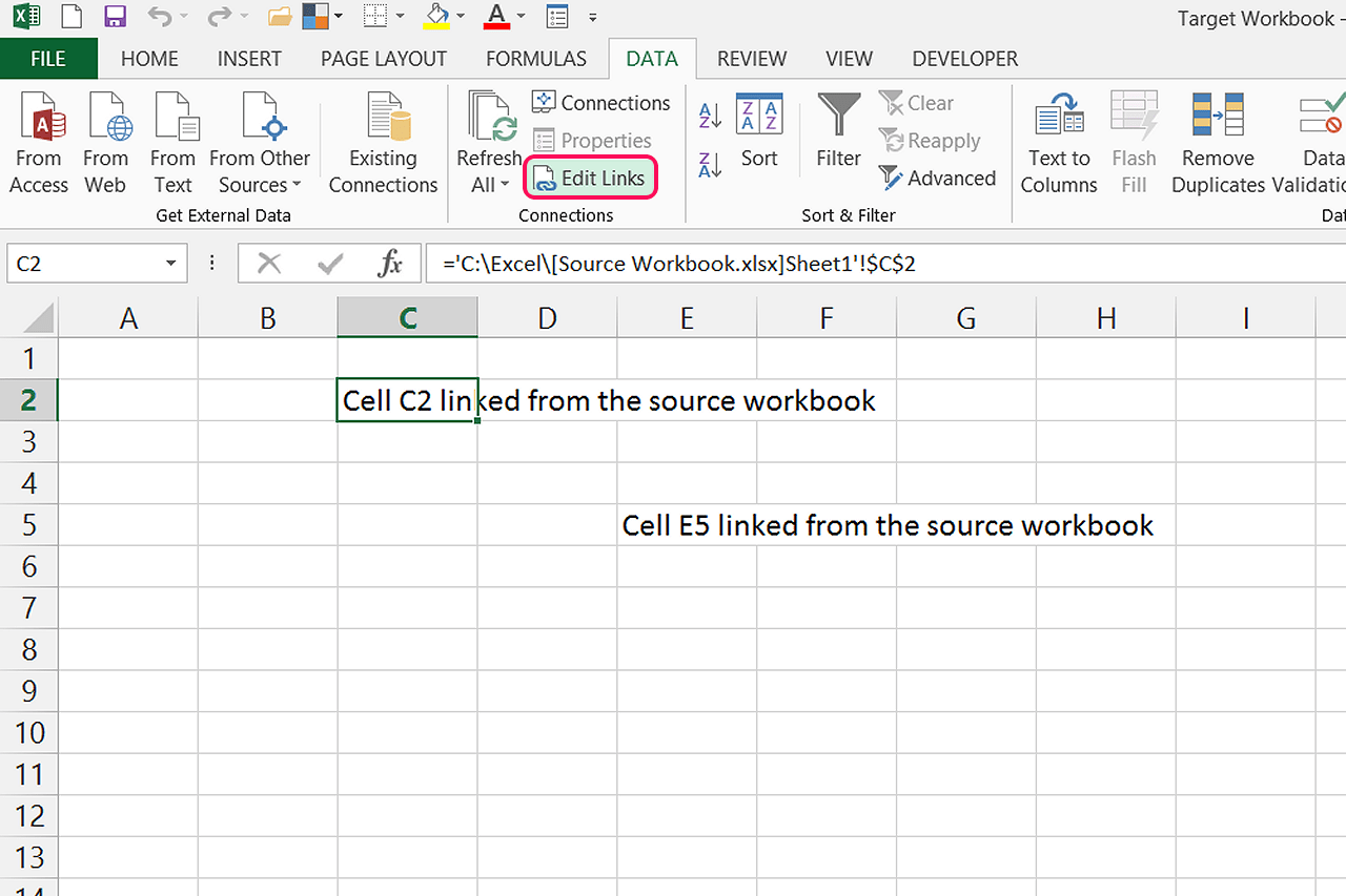 How Do I Update Links In Excel