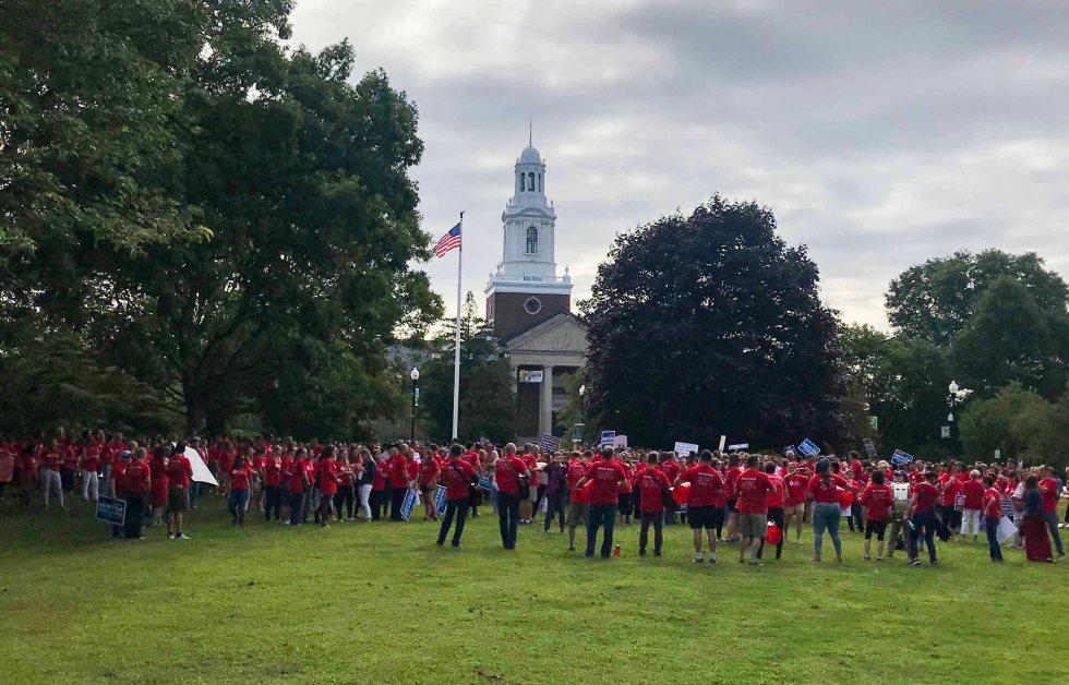 Newton Teachers Protest at City Hall