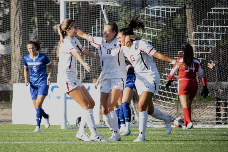 Vaughn Scores Twice, Eagles Use First Half Surge to Down UMass Lowell