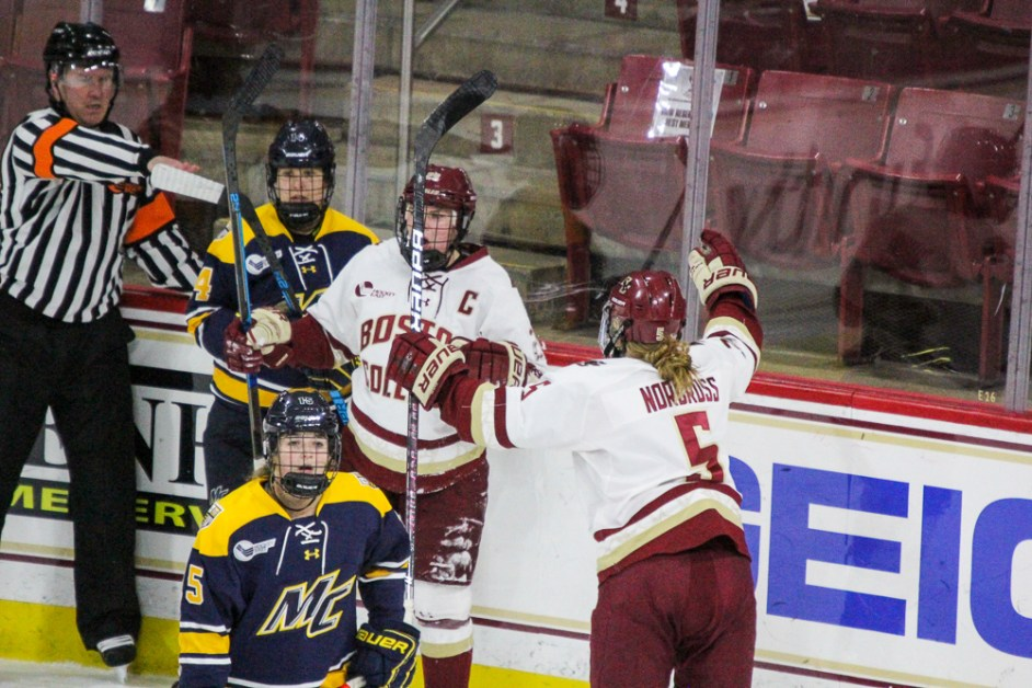 Agnew Registers Five-Point Night in Blowout of Merrimack