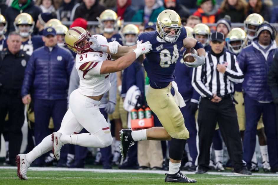 Notebook: Book, Irish Defensive Line Cause Eagles Issues in Holy War Defeat