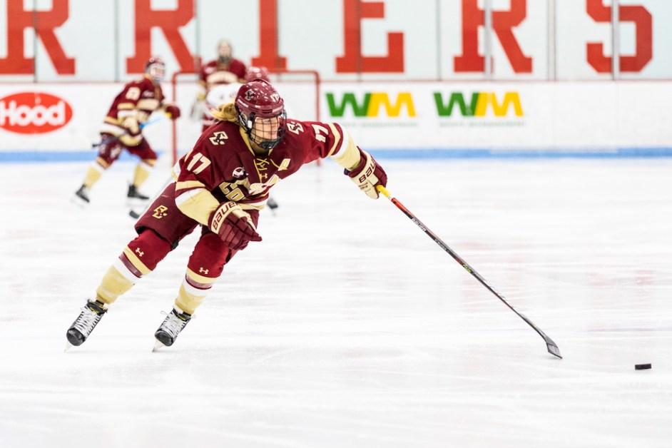 Belinskas' OT Goal Leads Eagles Over Maine