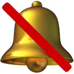 Image result for a picture of a bell with a slash through it