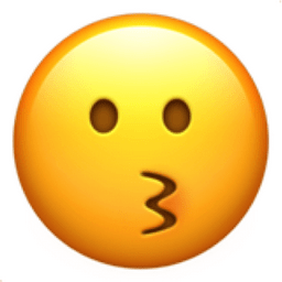 Image result for kissing face émoji