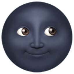 Image result for black moon face emoji