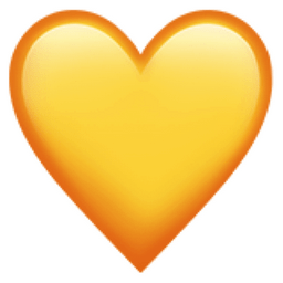 Image result for yellow heart emoji