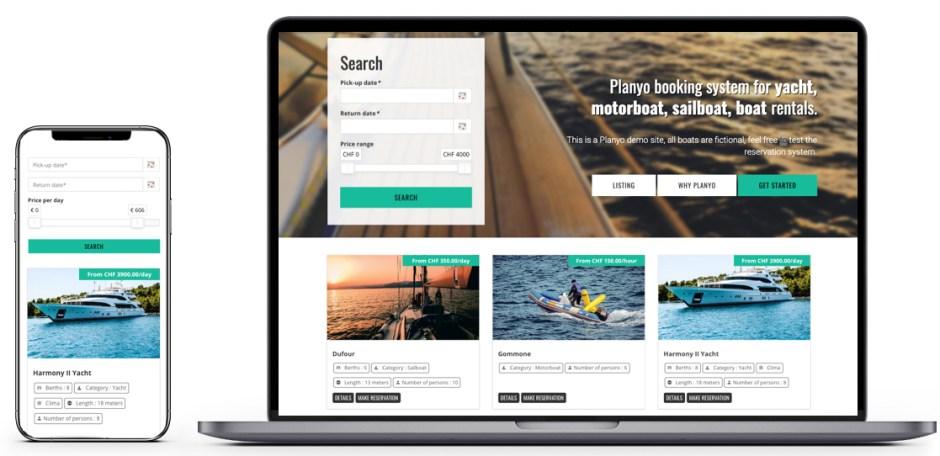 Boat rental software