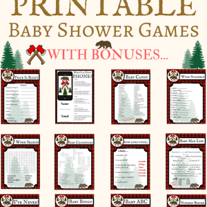 printable baby shower lumberjack games