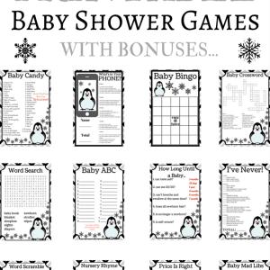 penguin baby shower
