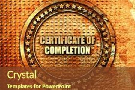 1000  Certificate Of Completion PowerPoint Templates w  Certificate     Slide set consisting of certificate of completion 3d rendering background  and a tawny brown colored foreground