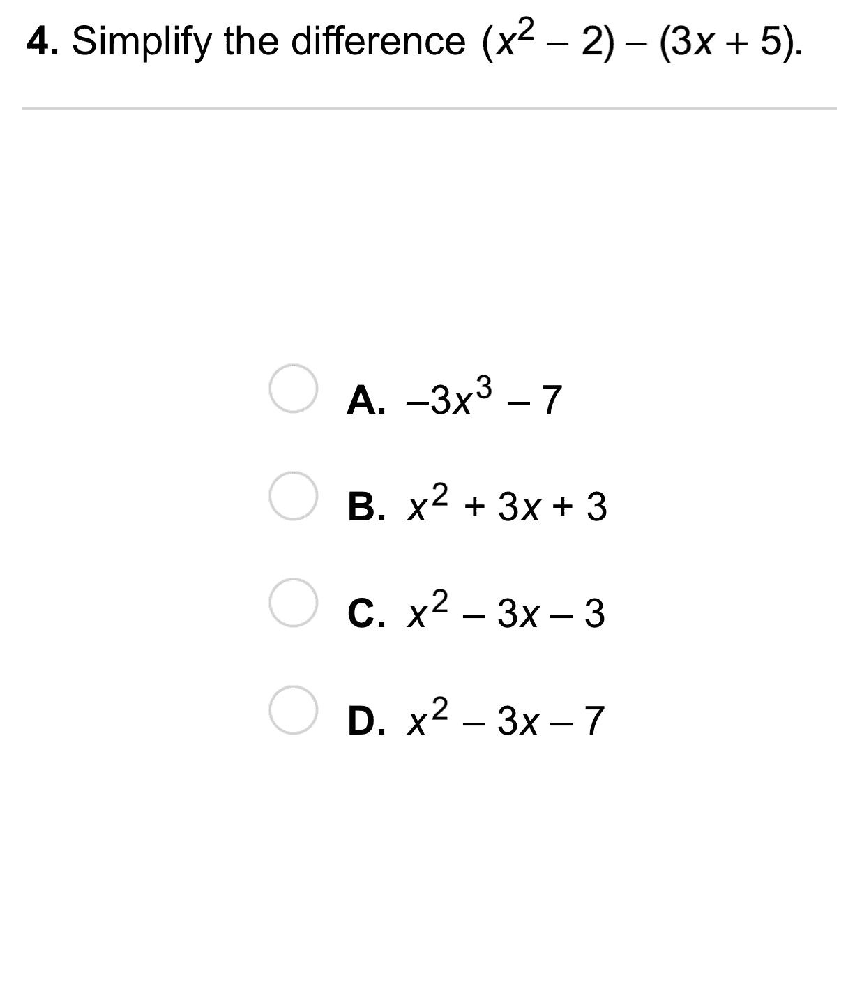Algebra 1 8 1 Independent Practice Adding And Subtracting