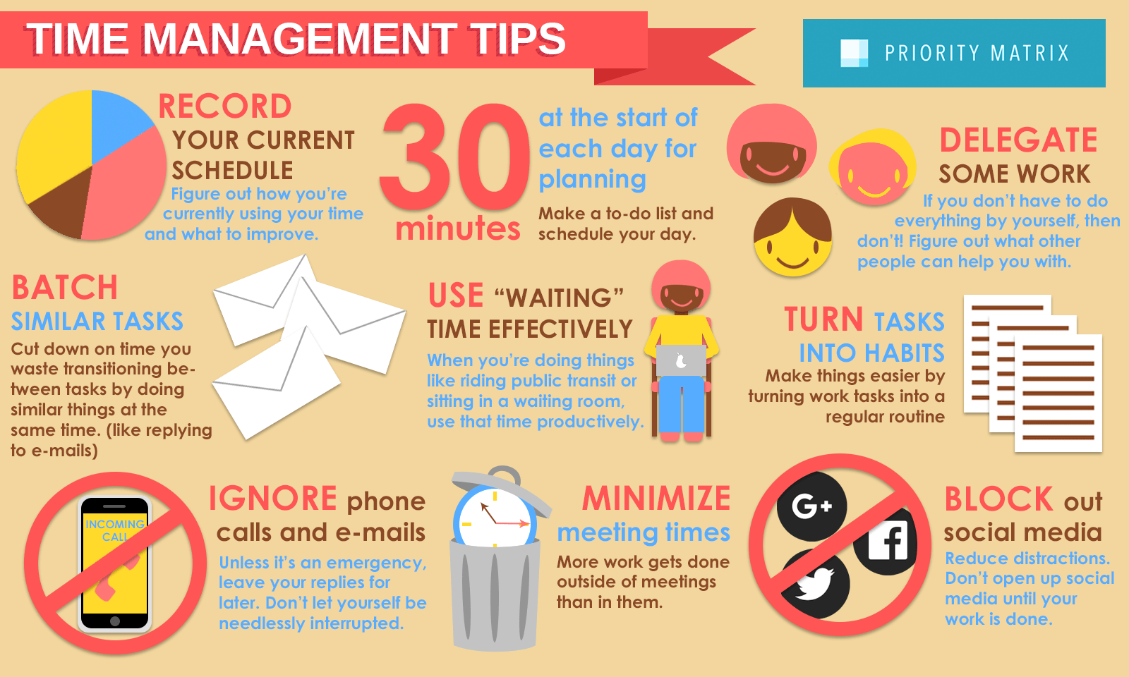 Time Management Exercises For Managers List