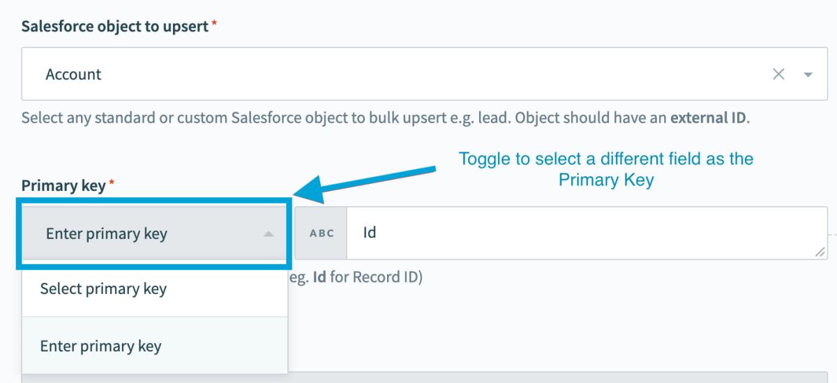 Salesforce primary key image