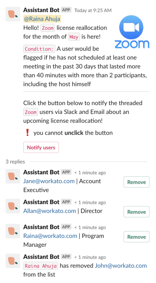 Assistant Bot for SaaS management spots subscribers who aren't making use of the application