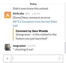 Slack call-out