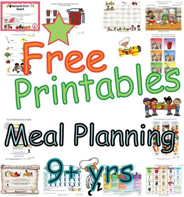 Summary Meal Plans For Children Nine Years And Older Food Groups Portion Sizes And Calories