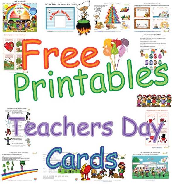 Cute Teachers Day Cards For Kids Healthy Foods
