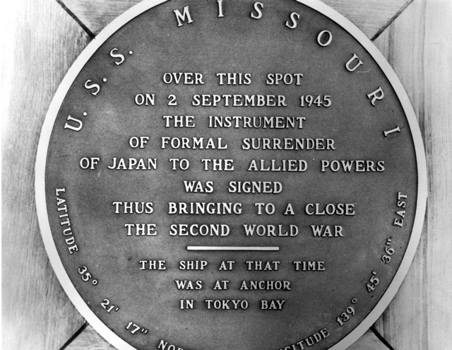 Image result for The japanese surrender aboard the uss missouri