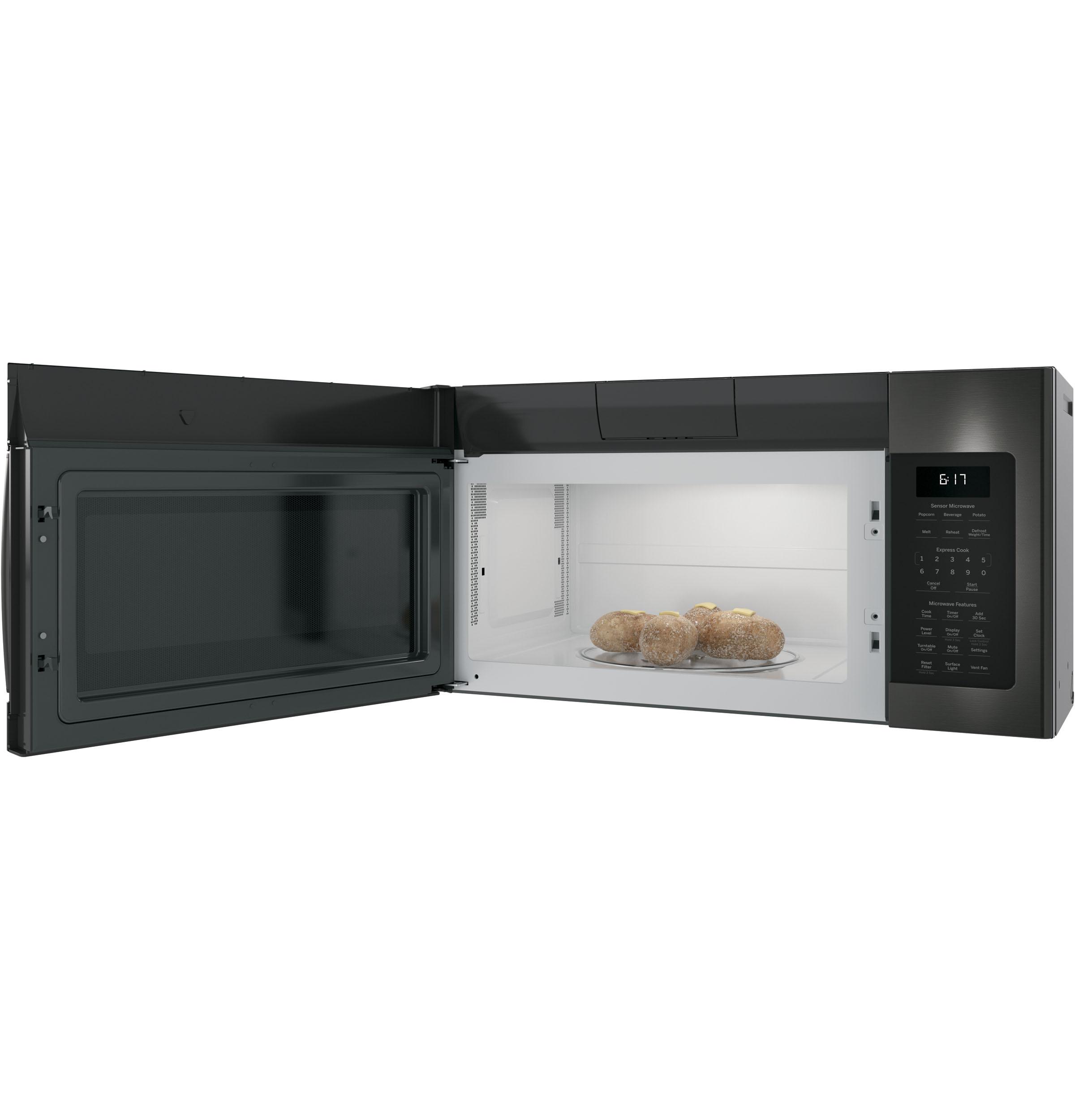 ge jvm6175blts ge 1 7 cu ft over the range sensor microwave oven jvm6175blts allshouse appliance and more