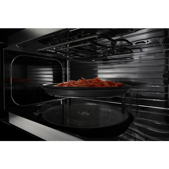 range microwave with dual crisp feature