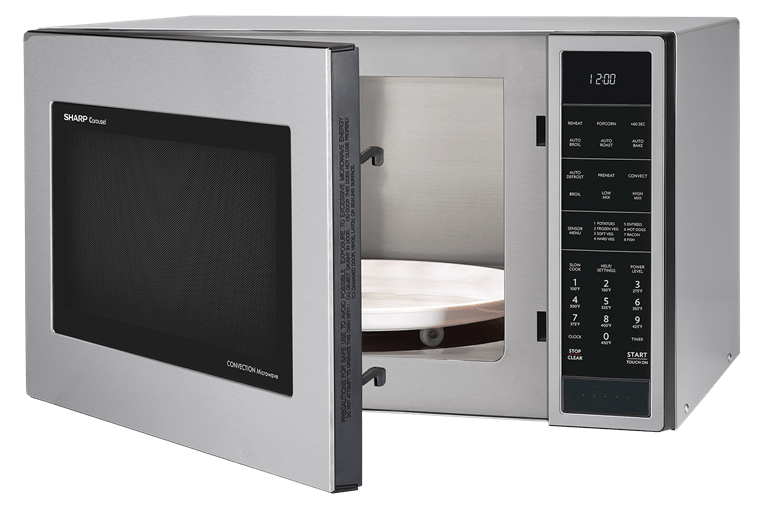 1 5 cu ft 900w sharp stainless steel