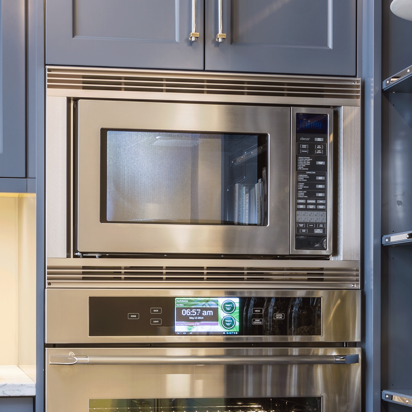 convection microwave in stainless steel