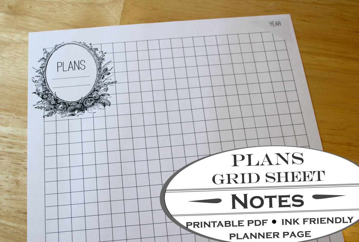 Garden Bed Planner Worksheet And Grid Paper