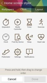 Customize the Gear Fit menu