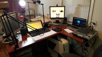 Using the M-155 for our My Take Radio live chat. The M-155 is a perfect 2nd or 3rd monitor.