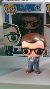 That is indeed a Funko Pop! of Last Week Tonight host John Oliver