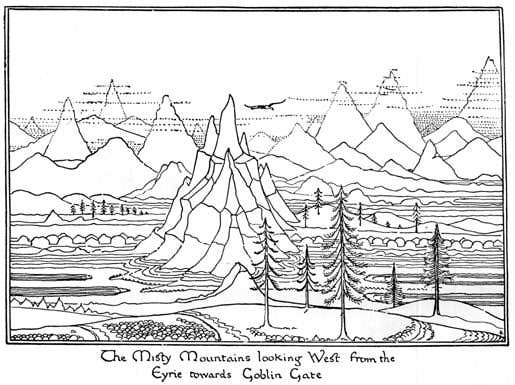 J R R Tolkien Far Over The Misty Mountains Cold Genius