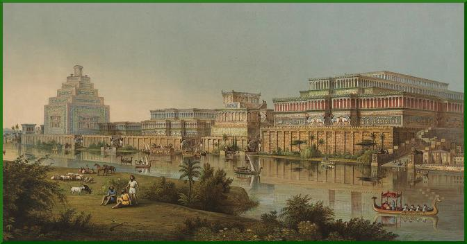 Artist depiction of the city of Nineveh.