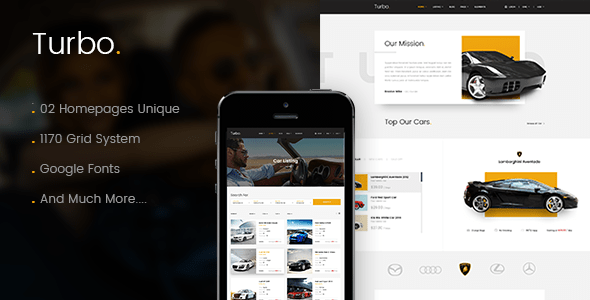 Turbo - Car Rental HTML Template | Car booking premium templates