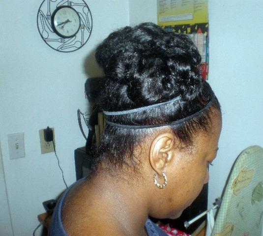 pin curls on natural hair