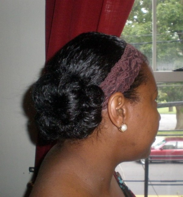 pin curled protective style