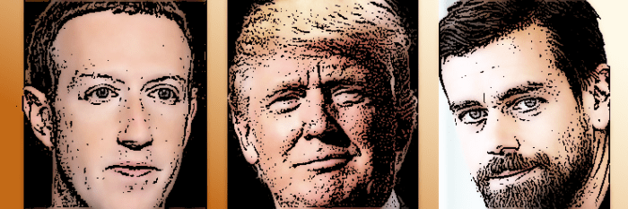 Zuck, Trump & Dorsey