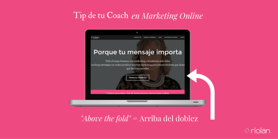 Qué significa above the fold en internet marketing