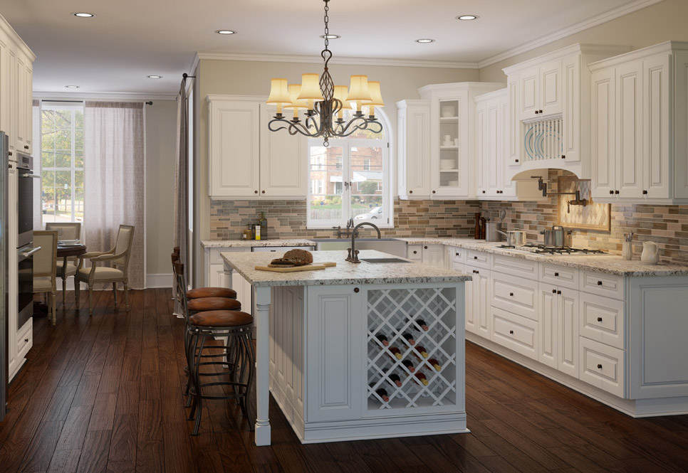 Cabana White Kitchen Cabinets