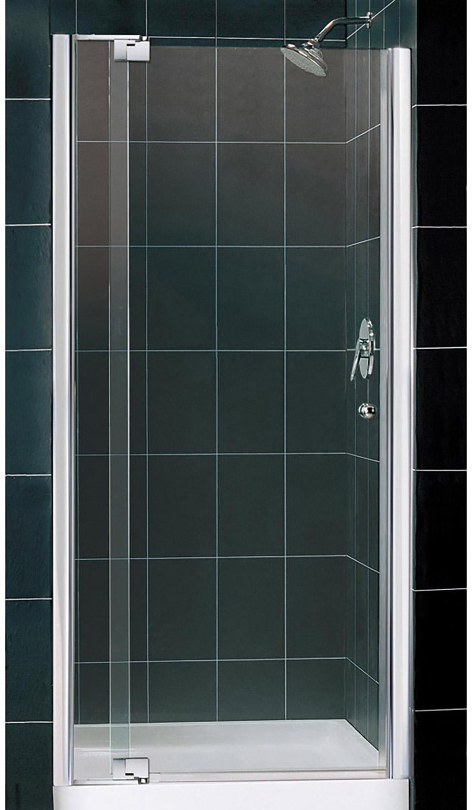 Dreamline Dl 6430 Cl Allure Frameless Pivot Shower Door And Slimline 36 In By 36 In Single Threshold Shower Base